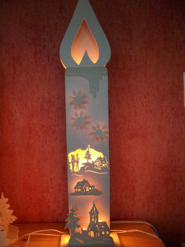 holz kerzen auf zweig mit led beleuchtung stimmungsvolle weihnachts und adventsdeko h 15 cm. Black Bedroom Furniture Sets. Home Design Ideas